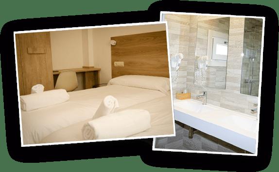 Cama baño en alojamiento